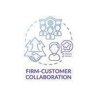 bedrijf-klant samenwerking concept pictogram vector
