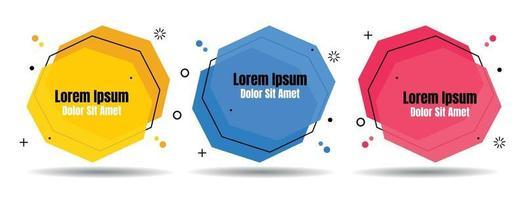 abstracte kleurrijke vloeibare geometrisch instellen voor banner, kaart, brochure. geïsoleerde golven. sjabloon voor uw tekst. vector illustratie