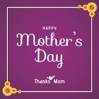 Gelukkige moederdag kaart vector