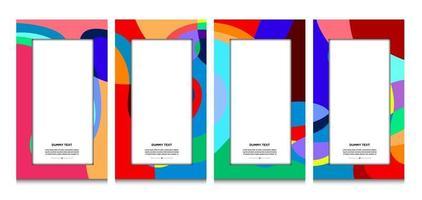 vector kleurrijke geometrische krommekader en grensachtergrond voor de zomer