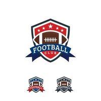 Amerikaans voetbal logo ontwerpen badge sjabloon, rugby logo badge vector