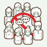 sociaal afstandsteken