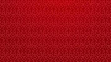 chinese traditionele oosterse achtergrond. rode wolken ornament patroon op rode achtergrond. chinees nieuwjaar kunst concept. chinese stijl patroon decoratie afbeelding. vector illustratie. 4k-formaat behang