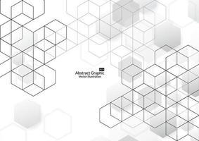 abstracte vakken achtergrond. moderne technologie met vierkante mazen. geometrisch op witte achtergrond met lijnen. kubus cel. vector illustratie