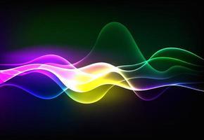 moderne sprekende geluidsgolven oscillerend donkerblauw licht, abstracte technische achtergrond. vector illustratie