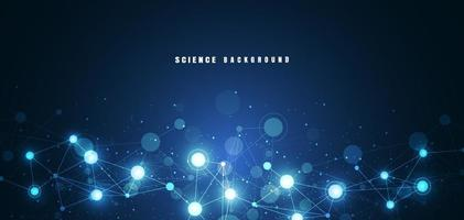 moleculaire structuur abstracte technologie. wetenschap scheikunde en natuurkunde achtergrond. medisch ontwerp. vector illustratie
