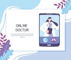 telegeneeskunde concept met arts op de smartphone