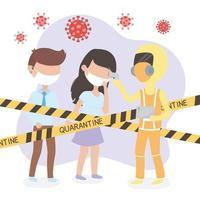 temperatuurcontrole op coronavirus vector
