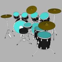 illustratie van een drumstel