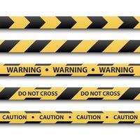 waarschuwingsbord, gele en zwarte streepbanden, vectorillustratie