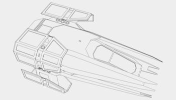 lineart van het ruimteschip