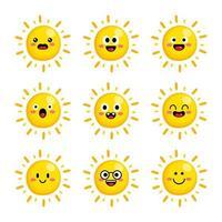 schattige zon vector
