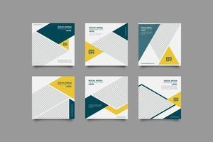 minimalistische zakelijke geometrische sociale media postsjabloon vector