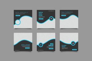 minimalistische elegante social media postsjabloon vector