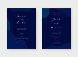 uitnodiging kaartsjabloon. set bruiloft uitnodiging kaartsjabloon ontwerp. vector decoratieve ontwerpachtergrond.