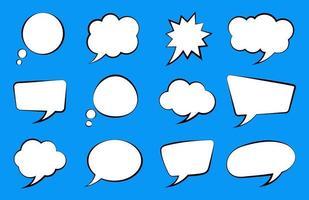 toespraak bubble set vector