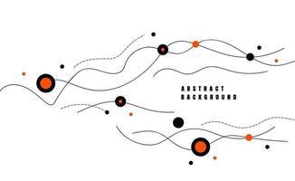 abstracte lijn dynamische golven. minimale vlakke stijl voor poster, banner, kaart. vector illustratie
