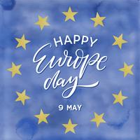 Europe Day Watercolor Background Vector