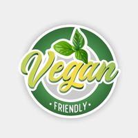 veganistisch symbool. veganistisch vriendelijk. vector illustratie.