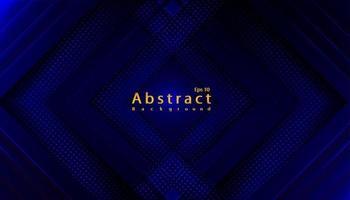 luxe abstracte blauwe donkere technische achtergrond met papercut vector