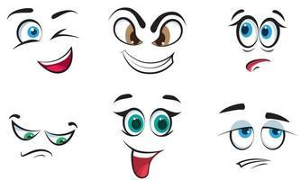 set van verschillende emoties. vector