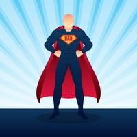 Gelukkige Fathers Day Superdad met Burst Achtergrondillustratie