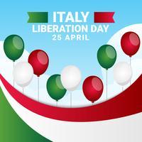 Italië Bevrijdingsdag patriottisch ontwerp vector