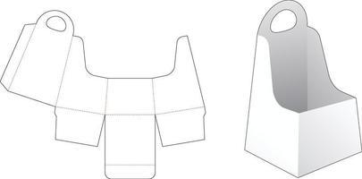 handvat obelisk-vormige container gestanst sjabloon