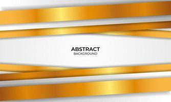 luxe wit en goud ontwerp vector