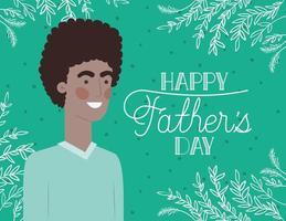 gelukkige vaders dag kaart vector