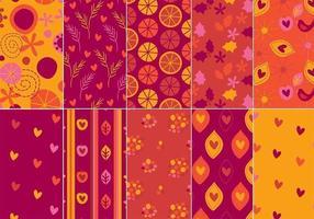 Feestelijke Illustrator Patroon Pack vector