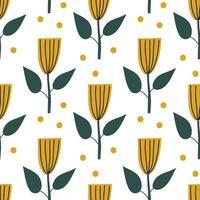 scandinavische lentebloem. vector kinderen naadloze achtergrondpatroon voor babydouche, textielontwerp. eenvoudige textuur voor nordic behang, vullingen, webpagina-achtergrond.