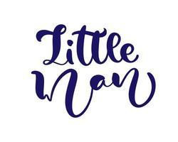 kleine man vector handgeschreven kalligrafie babyjongen belettering tekst. kinderen hand getrokken belettering offerte. illustratie voor kinder wenskaart, kind t-shirt, spandoek en poster.