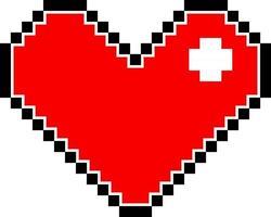 rood pixel hart geïsoleerd