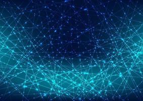 abstracte gloeiende blauwe laserlijn met fonkelingsverlichting op donkerblauwe ruimteachtergrond. digitale technologie futuristisch concept vector