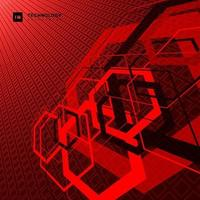 abstract geometrisch overlappend zeshoekig digitaal futuristisch concept van de vormtechnologie vector