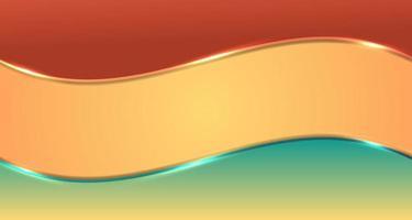 abstracte bruine en groene gradiëntgolfstrepen met gloedverlichtingseffect op gele achtergrond