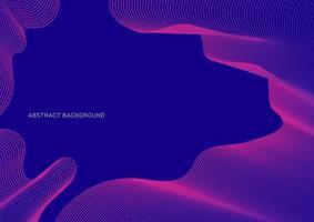 abstracte roze lijnen patroon rimpel dunne curven op blauwe achtergrond vector