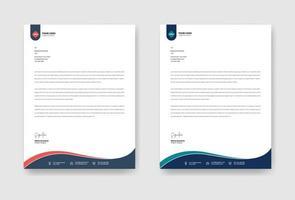 bedrijf brief hoofdsjabloon vector