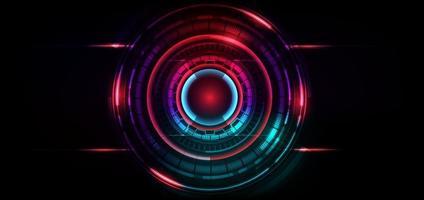 abstracte futuristische technische achtergrond. hud cirkelelement. vector