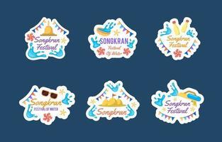 platte songkran festival stickercollectie