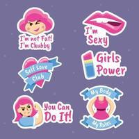 Vrouwendag sticker vector