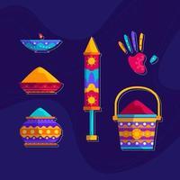 kleurrijke holi festival pictogram vector