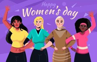 ondersteuning van vrouwendag in diversiteit