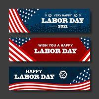 gelukkige dag van de arbeid banner