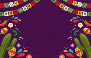 platte cinco de mayo feest achtergrond vector