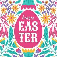 happy easter ornament achtergrond