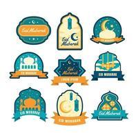 eid mubarak-labelset