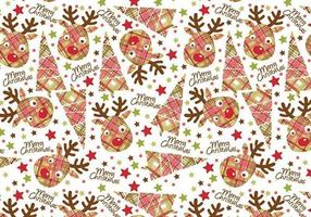 Kerst reindeer Tag en Illustrator Patroon Pack vector