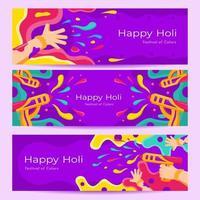 happy holi-sjabloon voor spandoek vector